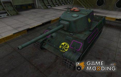 Контурные зоны пробития AMX M4 mle. 45 для World of Tanks