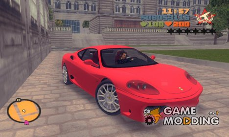 "Ferrari 360 Modena ""TT Black Revel"" for GTA 3"