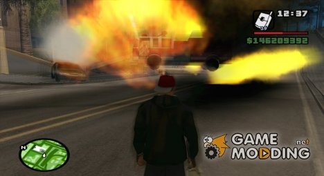 Blur On Explosions for GTA San Andreas