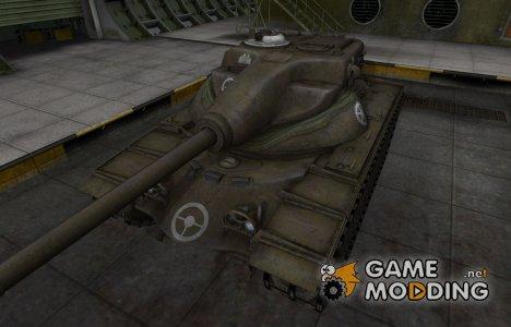 Зоны пробития контурные для T54E1 для World of Tanks