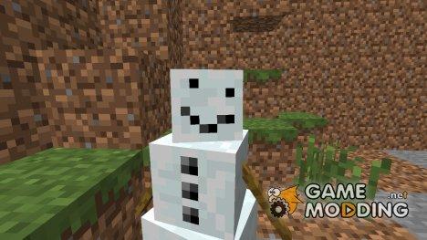 Снеговик без тыквы на голове для Minecraft