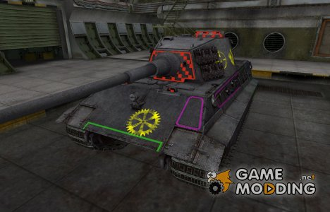 Контурные зоны пробития E-75 for World of Tanks