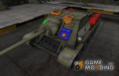 Качественный скин для СУ-85 для World of Tanks