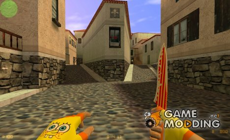 Knife Bob Sponge для Counter-Strike 1.6