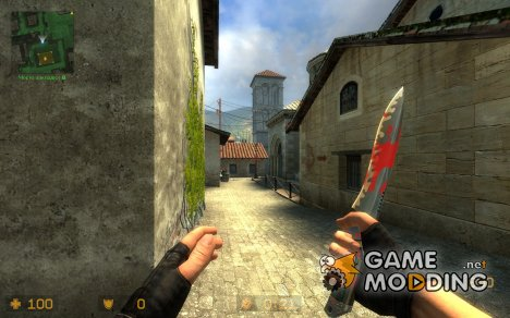 HD Blood_On_Knife_Skin for Counter-Strike Source