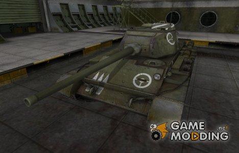 Зоны пробития контурные для Т-44 for World of Tanks