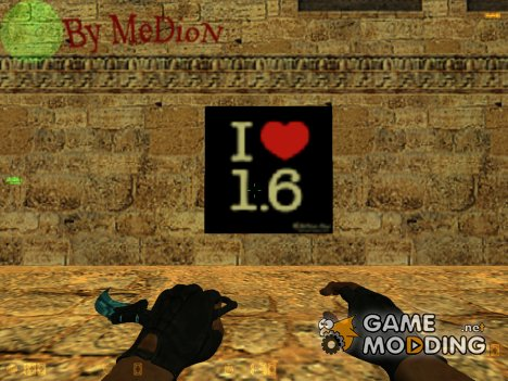 "Логотип ""I Love 1.6"" для Counter-Strike 1.6"