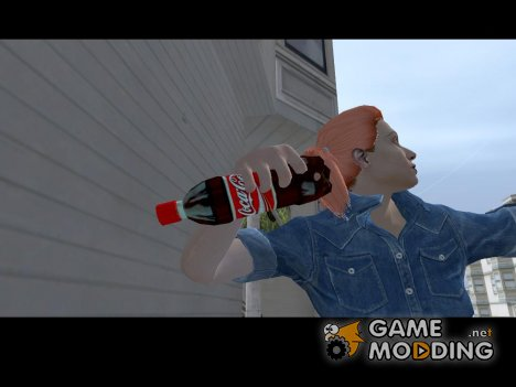 Coca-Cola Bottle black and red for GTA San Andreas