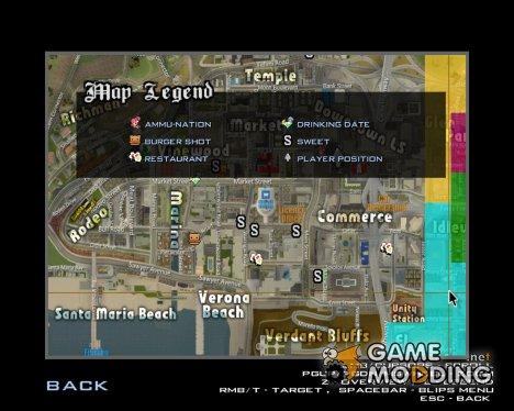 Chibi иконки на карте for GTA San Andreas