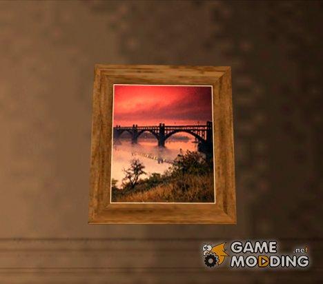 Качественные картины во всех интерьерах для GTA San Andreas