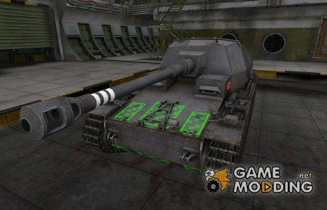 Качественные зоны пробития для Dicker Max для World of Tanks