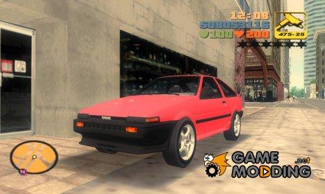 "Toyota Corolla AE86 2JZ-GTE ""Black Revel"" для GTA 3"