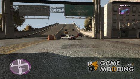 VC Style Radar/HUD (скин 1) для GTA 4