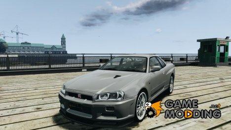 Nissan Skyline gtr34 VOLK rims for GTA 4