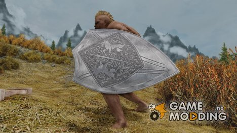 SPOA Silver Knight Shield for TES V Skyrim