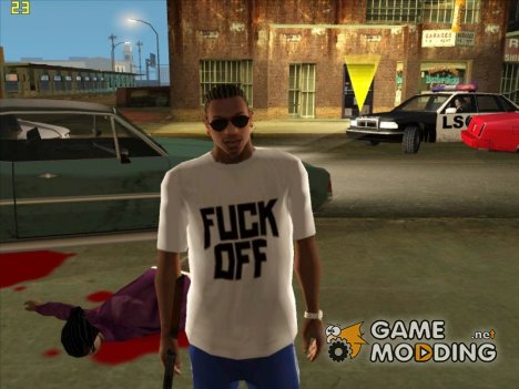 Футболка F*CK OFF [отвяжись] for GTA San Andreas