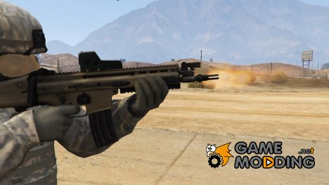 FN Scar-L Scoped (Animated) для GTA 5