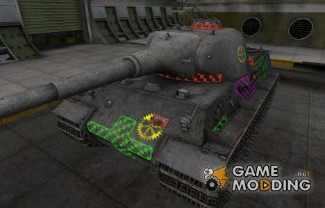 Качественные зоны пробития для Löwe для World of Tanks