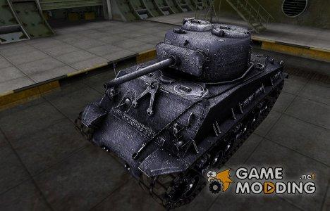 Темный скин для M4A2E4 Sherman for World of Tanks