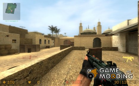 Burned Camo Mp5 for Counter-Strike Source