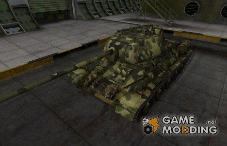Скин для Т-34-85 с камуфляжем для World of Tanks