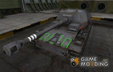 Контурные зоны пробития Dicker Max for World of Tanks