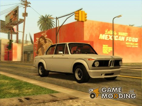 BMW 2002 Turbo 1973 Stock для GTA San Andreas