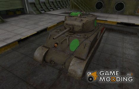 Зона пробития M4A3E2 Sherman Jumbo for World of Tanks