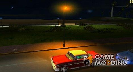 Доработка фонарных столбов v2 для GTA Vice City