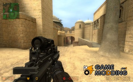 TheLama M4\Hybrid Sight on BrokeRu's V2 M4 Anims. for Counter-Strike Source