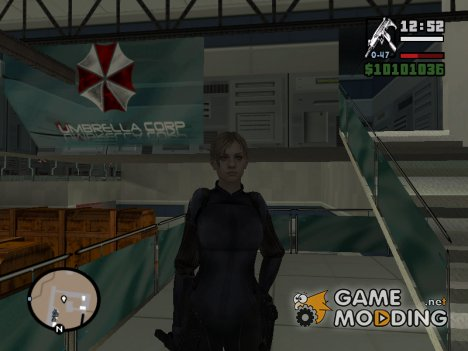 Jill Valentine в закрытом боевом костюме из RE 5 для GTA San Andreas