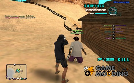 C-HUD edited SampHack для GTA San Andreas