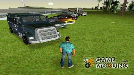Небольшой пак HD машин для GTA Vice City