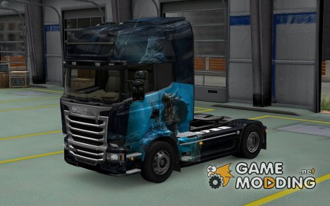 Скин Leviathan для Scania Streamline for Euro Truck Simulator 2
