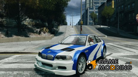 BMW M3 GTR NFS MOST WANTED for GTA 4