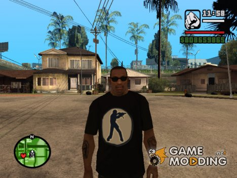 Футболка с логотипом Counter Strike для GTA San Andreas