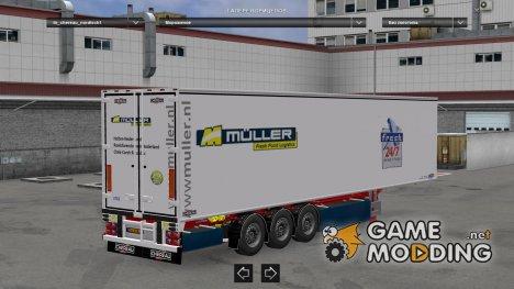 Muller Transport Trailer Pack V1 для Euro Truck Simulator 2