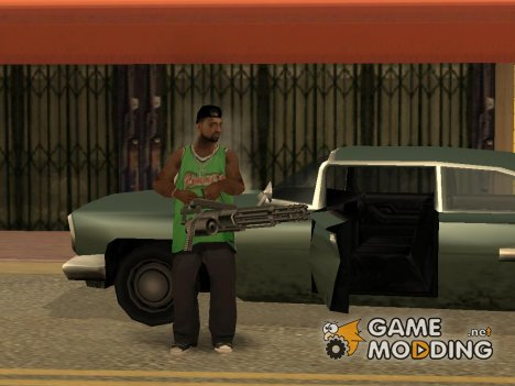 Теперь у вашей банды появится новое оружие Minigun for GTA San Andreas