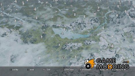 Качественная карта мира со всеми дорогами для TES V Skyrim