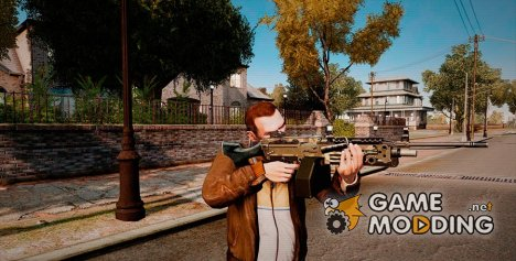 Ручной пулемёт M249 Camo для GTA 4