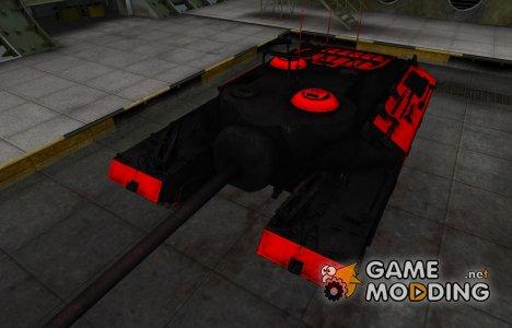 Черно-красные зоны пробития T95 для World of Tanks