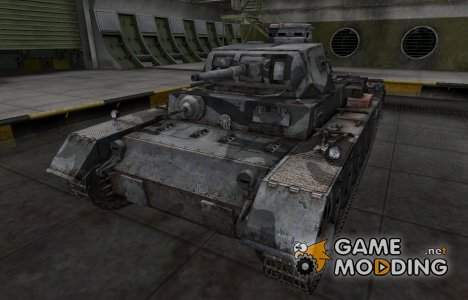Шкурка для немецкого танка PzKpfw III Ausf. A for World of Tanks