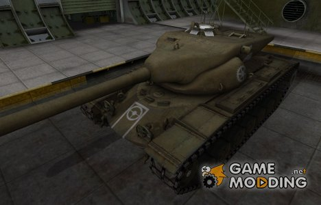 Зоны пробития контурные для T57 Heavy Tank for World of Tanks
