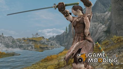 HN66s DeathCrown Katana Sword для TES V Skyrim