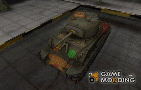 Зона пробития M4A2E4 Sherman for World of Tanks