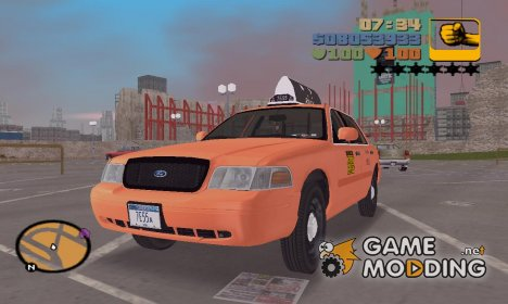 Ford Crown Victoria P70 LWB Taxi 2002-2006 г для GTA 3