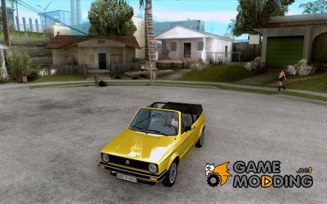 Volkswagen Golf Mk1 Cabrio for GTA San Andreas
