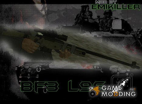 L96 from BF3 for GTA San Andreas