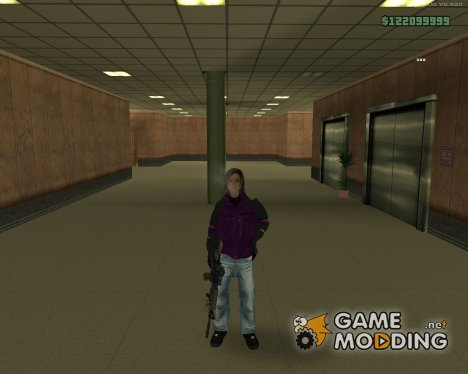 Winter HD Skin Female для GTA San Andreas