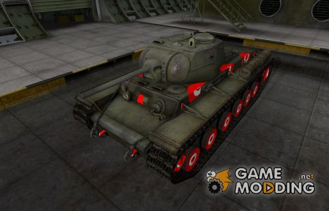 Зона пробития для КВ-1С для World of Tanks